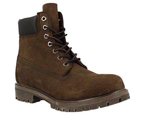 Timberland Men's 6 inch Premium Waterproof Boot, Dark Brown Nubuck, 10 W US