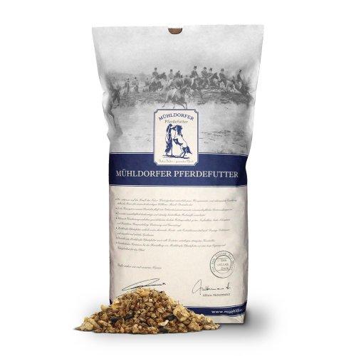 Mühldorfer Futter für Sport- und Freizeitpferde, 5-Korn Müsli ohne Hafer, keine synthetischen Vitalstoffe, 5-Korn sensitive, 20 kg