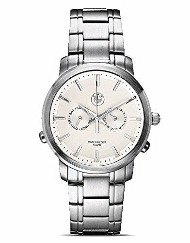 Original BMW Herren Armbanduhr Uhr Edelstahl mit hellem Ziffernblatt