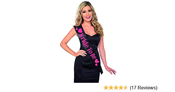 Smiffys Womens Bride To Be Sash Pink And Black One Size 26847 US