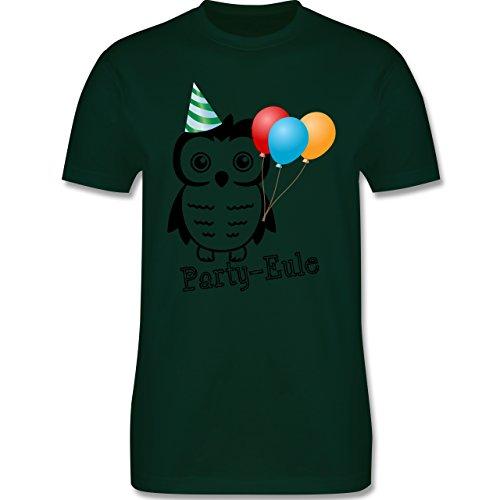 Eulen, Füchse & Co. - Party-Eule - Herren Premium T-Shirt Dunkelgrün