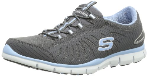 Skechers - Gratis in-motion, Sneaker Donna Grigio (CCLB)