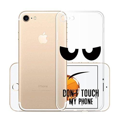 Custodia Cover Per Apple iPhone 8 / iPhone 7, WenJie Arcobaleno Unicorn Trasparente Silicone Sottile Back Case Molle di TPU Trasparente per Apple iPhone 8 / iPhone 7 DOU5