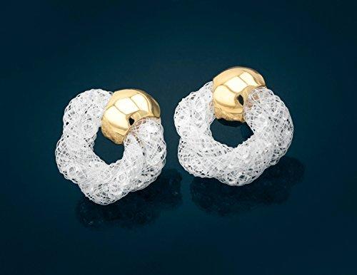 Pendientes en Óptica de red con cristales brillos en el color blanco   Joyería / Bisutería Pendientes de la marca MyBeautyworld24