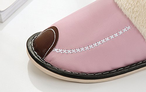 Donne Nero Rojeam Poteva Pantofole Casa A Antiscivolo Caldo Impermeabile Superficie Felpa rrnaq8xO