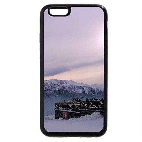 iPhone 6S / iPhone 6 Case (Black) west in the mountains