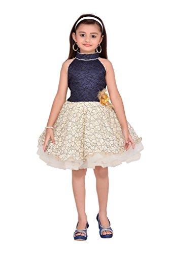 Adiva Girl's Party Wear Frock For Kids (G_4031_BLUE_16)