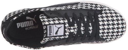 Schwarz Nero Glyde Wns donna Puma 354376 black Sneaker Lo 01 Herringbone white 6xHfnCwaqg