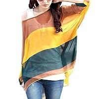 JFDWOPHT Boho Chiffon Tunic Blouse Shirt Loose Batwing Tops for Women,Boho13,One Size