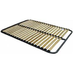 Hévéa Sélection SOMMIER A Lattes C20 120 x 190 + Pieds
