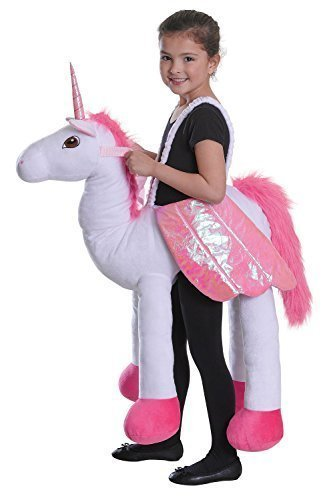 Image of Boys or Girls Step In Ride on Piggy Back Unicorn Mythical Animal Book Day Halloween Fancy Dress Costume Outfit (Unicorn)