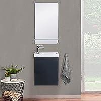 Lave-Mains Lisa + Miroir L40 cm avec Tablette Blanche