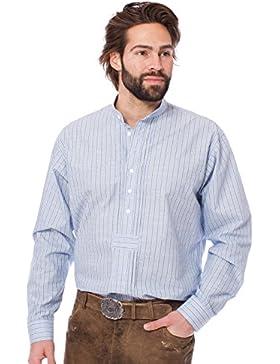 Orbis Trachtenhemd Pfoad Stehkragen hellblau