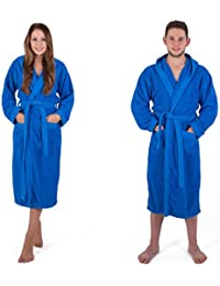 Julie Julsen Flauschiger Bademantel für Damen & Herren in den Größen S-XXXL und aktuellen Farben - Saunamantel Morgenmantel Baumwolle Royal Blau L
