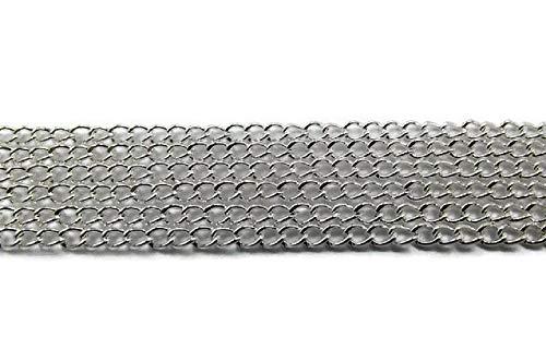 SiAura Material ® - 10m Gliederkette versilbert 3x2,2 mm