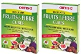 (2 Pack) - Ortis - Ortis Fruits And Fibre Cubes | 12 Cubes box | 2 PACK BUNDLE