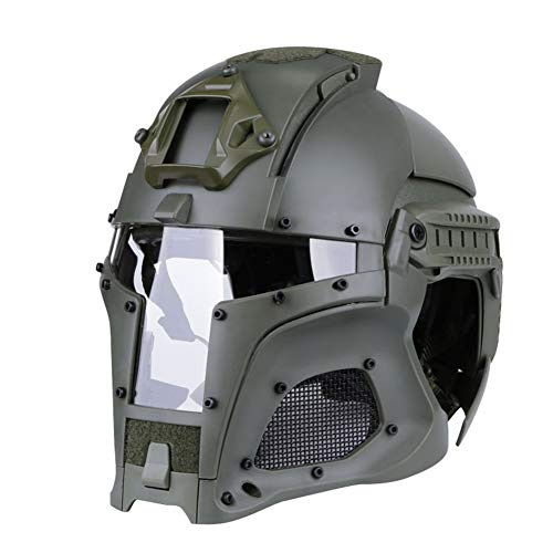 Mittelalterlicher Iron Warrior Helm Tactical Outdoor Retro Helm Solid Color Edition