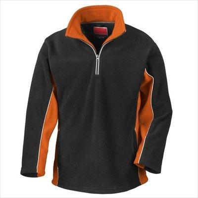 Tech3 Fleece-Sportsweatshirt mit 1/4 Reißverschluss XL,Black/Orange Tech Fleece-pullover