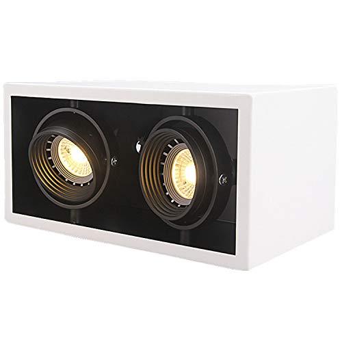 Skoyiyue Foco LED Luz De Superficie Cuadrada Montaje
