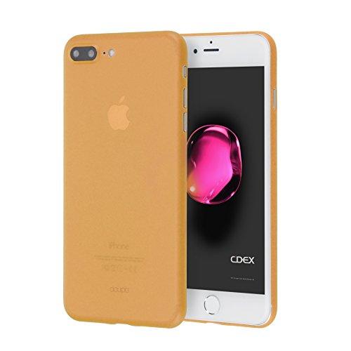 doupi UltraSlim Hülle für iPhone 8 Plus / 7 Plus (5,5 Zoll), Ultra Dünn Fein Matt Oberfläche Handyhülle Cover Bumper Schutz Schale Hard Case Taschenschutz Design Schutzhülle, orange Orange Hard Case