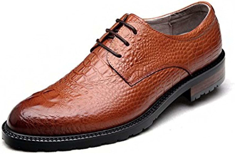 Oxford Schuhe Herrenschuhe Hochwertig Krokodil Muster Gepraumlgt Lederschuhe Europaumlischer Stil Business Laumlssig Taumlgliches