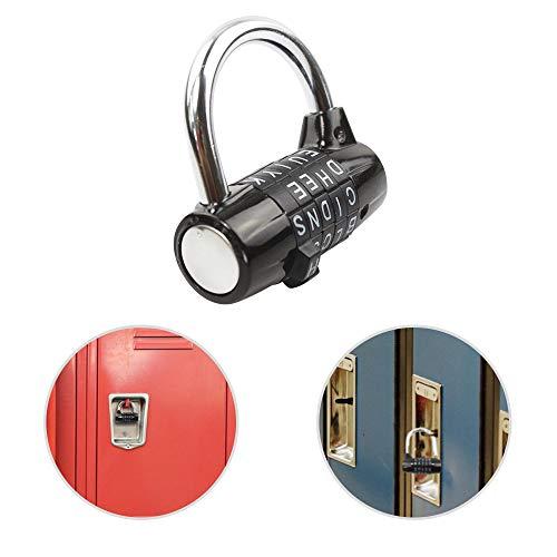 JJOnlineStore - Combinación de letras de 5 palabras Wordlock Maximo Seguridad Negro Color Candado