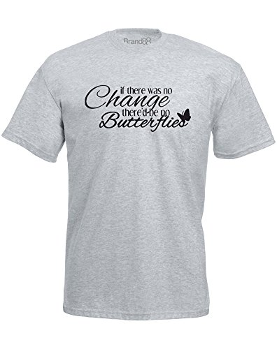 Brand88 - Brand88 - Change is Good, Mann Gedruckt T-Shirt Grau/Schwarz