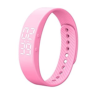 Activity Tracker, Heart Rate Monitor Pedometer Sleep Monitor Smart Bracelet Waterproof Screen Display with Message Reminder for Girls Women Man