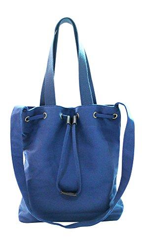 Kronya® | Elegante Tragetasche aus Stoff | Clutch Damen Damenhandtasche Damentasche Handtasche Henkeltasche Rucksack Schulrucksack Schultasche Schultertasche Shopper Tasche Umhängetasche (Blau)