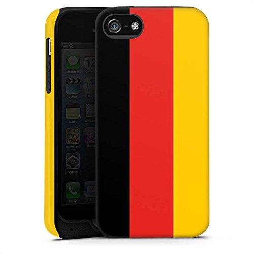 Apple iPhone X Silikon Hülle Case Schutzhülle Deutschland Flagge Fußball Tough Case matt