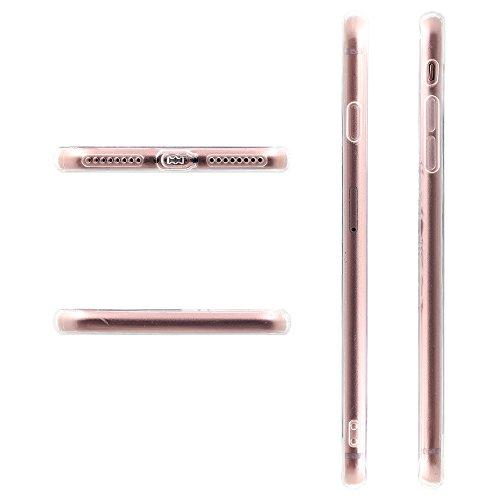Coque iPhone 7, TrendyBox Transparent PC Hard Cover avec soft TPU Pare-chocs pour iPhone 7 avec verre trempe film de protection (Mini fleurs) 114
