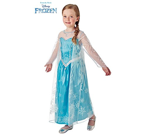 Disney Frozen Deluxe Elsa Kostüm - Disney Frozen-Kinder Elsa (Kostüm Rubie 's Spain) S