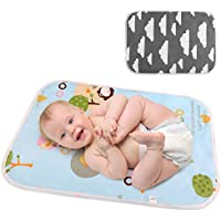 LEADSTAR Cambiador de Bebé, Cambiador de Pañales Plegable para Viaje, Impermeable Lavable Portátil Colchón Bebé Cama para Bebés Recién Nacidos y Niños, 50 x 70 cm, 2 Pack