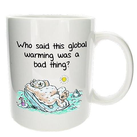 Funny réchauffement planétaire à thé pour le bureau avec Mugs n Kisses Tasse à café