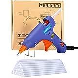 Blusmart Mini Pistola per colla a caldo con 25 Bastoncini di colla, 20-watt, Blu