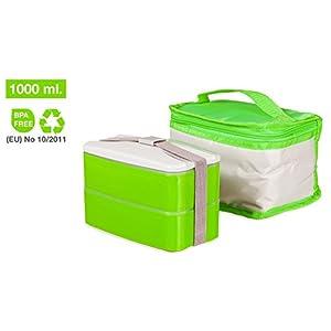 Picnic, il miglior contenitore per alimenti per mangiare fuori casa, con borsa termica per il pranzo lavabile in lavatrice, lunch box con sistema Bento di facile pulizia, il grasso non aderisce