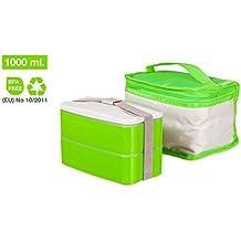 Tupper para Picnic, Taper Bento de fácil limpieza, con Bolsa Porta Alimentos apta para lavadora
