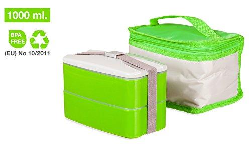 Picnic, il miglior contenitore per alimenti per mangiare fuori casa, con borsa termica per il pranzo lavabile in lavatrice, lunch box con sistema Bento di facile pulizia, il grasso non