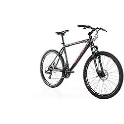 """Moma Bikes MTB GTT - Bicicleta 26"""" Btt Shimano profesional, Aluminio, Unisex Adulto, Negro , L (1,70-1,79 m)"""
