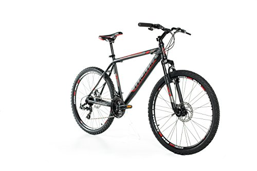 Moma Bikes MTB GTT -  Bicicleta 26' Btt Shimano profesional, Aluminio, Unisex Adulto, Negro , M (1,55-1,69 m)