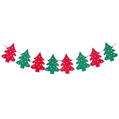 Wimpelkette Christbaum Halloween Weihnachten Party DIY Bunt Flagge Girlande Banner Aufhängen Party Fenster Dekoration (Diy-fenster-dekorationen Für Halloween)