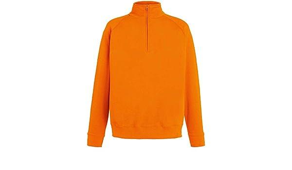 Mens Sweatshirt Fruit of the Loom Lightweight Zip Neck Sweatshirt SS927