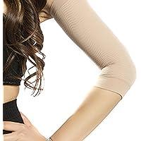 QianSheng paio di Compressione rigorosa Manica sottile delle braccia Cellulite Burn Grasso perso Manica corta Braccio superiore più snello Shaper di controllo shapewear per donne Le signore Ragazze