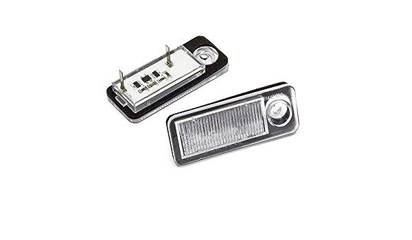 Led Kennzeichenbeleuchtung Kompatibel Mit Audi A6 C5 B 98 05 2er Set Ohne Verkabeln Auto