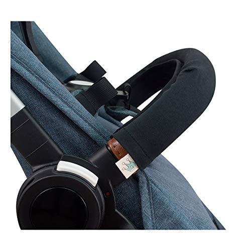 JANABEBE Abdeckung Deckt Griff für Kinderwagen (Black Series, Einzel)