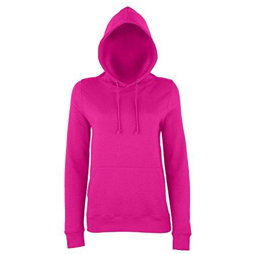 AWDis Just Hoods Damen Kapuzenpullover / Hoodie Dunkles Pink