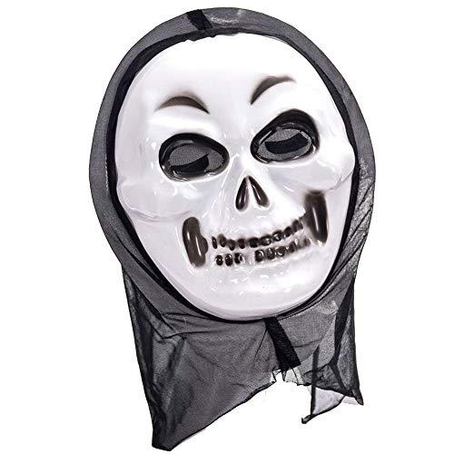 Feelnet Halloween Adult Screaming mask in Dark Rubber Adult Fancy Dress Devil mask (Smiling Ghost) (Ghosts Duty Of Halloween-maske Call)