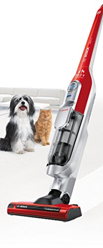 Bosch BCH6PETGB Athlet Animal Upright Cordless Vacuum Cleaner, 0.9 L – Tornado Red