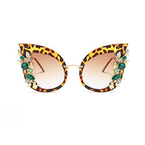 SIMPLEWORD Fashion Cat Eye Sonnenbrille Schmuck Designer Retro Gradient Weiblich Oculos UV400 Brillen