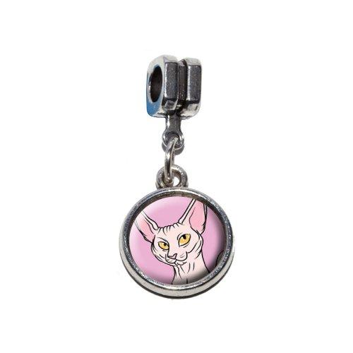 a–Pet italienischen europäischen Euro-Stil Armband Charm Bead–für Pandora, Biagi, Troll,, Chamilla,, andere (Sphynx Katze Kostüm)